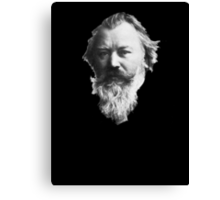Johannes Brahms Face Canvas Print