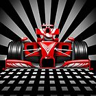 Formula 1 Red Race Car by BluedarkArt
