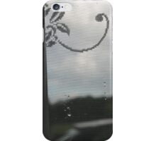 Looking out into the rain iPhone Case/Skin