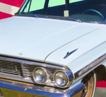 1964 Ford Galaxy Station Wagon And American Flag Sticker