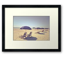Happiness is a Day at the Beach Framed Print