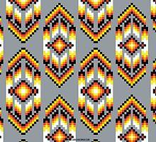 Native American Design Bead Pattern SMOKE by Carolina Swagger
