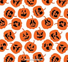 Halloween Pumpkin Pattern  by Carolina Swagger