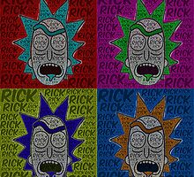 Rick and Morty: Rick Pop Art Print by Colin Bradley