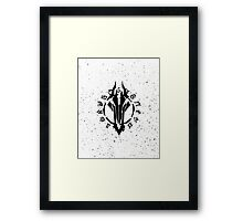 Darksiders Symbol (Black) Framed Print