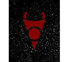 Irken Invader Symbol (Red) Photographic Print