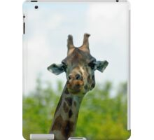 Quirky giraffe looking at you iPad Case/Skin