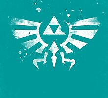 Legend of Zelda Hyrule Crest Blue by dylanwest2010