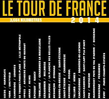 2014 Tour De France Art by Subway-Sign.com by Subwaysign
