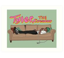 Tyler, The Creator on a couch Art Print