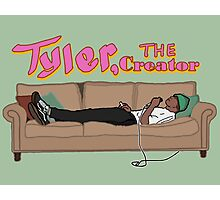 Tyler, The Creator on a couch Photographic Print