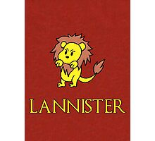 Game of Thrones - House Lannister Sigil Photographic Print