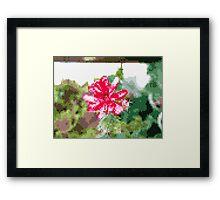 8 bit tongue flower Framed Print