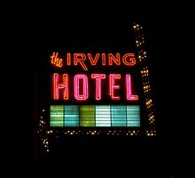 The Irving Hotel at Night by Kadwell