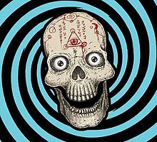 Hypnotica Spiral Skull by ARTmuffin