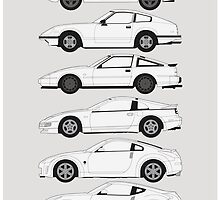 Nissan Fairlady Z History by RexDesigns