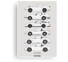 Nissan Fairlady Z History Canvas Print