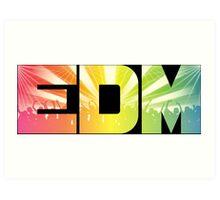 EDM Rainbow Art Print