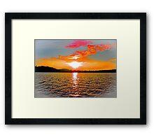 Evening's Fiery Glow Framed Print