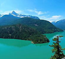 Diablo Lake Panorama 1 by kchase