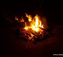 Campfire at night by NSWCamper
