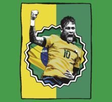 Neymar - Brazil (Green and Yellow) by JoelCortez