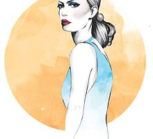 Virgo Zodiac Fashion Illustration by LizzieBowen