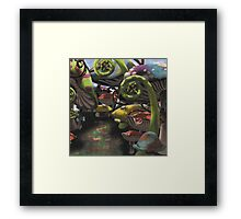 Wonderland Toadstool and Fern Forest Framed Print