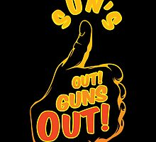 Sun's Out Guns Out T-Shirt by spoll
