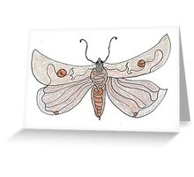 The Endangered Austyn Teal Moth (one-line #123) Greeting Card