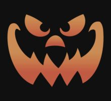 Pumpkin Halloween Jack O Lantern Face by Carolina Swagger