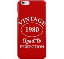vintage 1980 aged to perfection iPhone Case/Skin