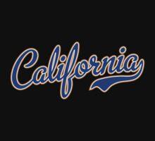 California Script Font Blue Kids Clothes
