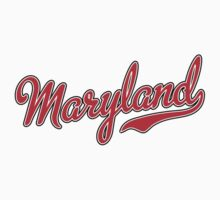 Maryland Script Red Kids Clothes