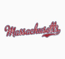 Massachusetts Script VINTAGE Red by Carolina Swagger