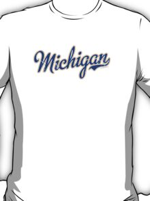 Michigan Script VINTAGE Blue T-Shirt