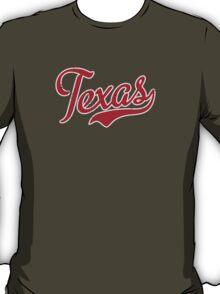 Texas Script VINTAGE Red T-Shirt