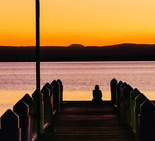 Sunset with a Fisherman by tuliptimeimages