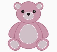 Pink Teddy Bear Sticker for Baby Girl Crafts by StickerStore