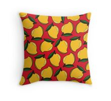 Mango - Red Throw Pillow