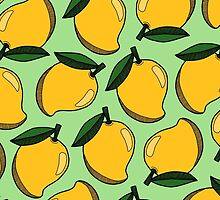 Mango - Pistachio Green by tosojourn
