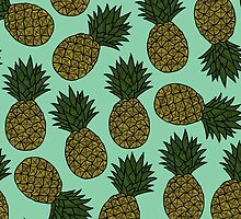 Pineapple - Sea Green by tosojourn