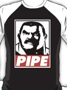 Haggar Pipe Obey Design T-Shirt
