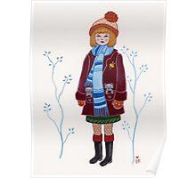 Winter Kitten Pockets Poster