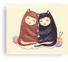 The Love Cats Canvas Print