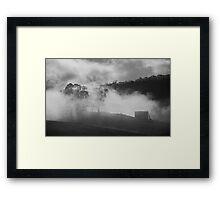 Misty hills, Tasmania Framed Print
