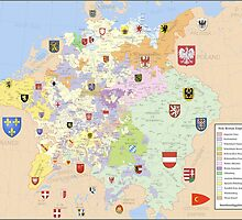 Map of Holy Roman Empire, 1648 by PattyG4Life