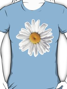 Daisy Blues - Daisy Pattern on Cornflower Blue T-Shirt