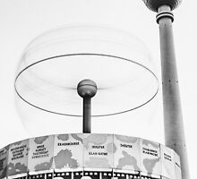 Urania world clock and Berlin TV Tower by novopics