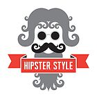 Hipster Man - Minimal Design Style by serkorkin